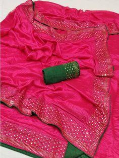 Sana Silk Sarees with Blouse Piece from Stf Store Jute Silk Saree, Art Silk Sarees, Satin Saree, Pink Saree, Cotton Saree, Online Shopping Sarees, Sarees Online, Designer Silk Sarees, Designer Dresses