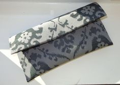 Gray with Black Clutch Bridesmaid Clutch Wedding by AnnabelleMB, $18.00