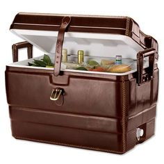 The Leather #Cooler from Orvis is for the More Distinguished Man trendhunter.com