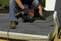 How to install asphalt shingles fill in shingle steps