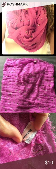 Juicy Couture Pink & Gold Foil Infinity Scarf Normal wear, see photos. Juicy Couture Accessories Scarves & Wraps
