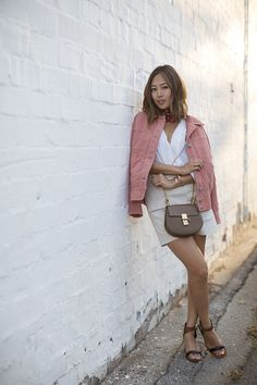 aimee_song_scarf_pink_suede_jacket_chloe_drew_bag_celine_sandals