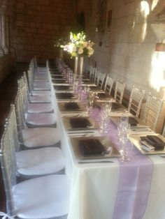 93fe057e5472 Table Setting at theSpanish montasory church with rectangular tables