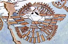 """The spelling of aš in Ashur's name could be analyzed not only as """"The Only God"""" but also as """"God is One,"""" and """"The Hidden God"""". The winged disk, a symbol of the sun, symbolized him as the infinite ocean of light engulfing the visible world and radiating its brightness into it. [1] Ashur is surrounded by the flames in his insignia."""