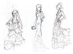 Formación en MasSaber: Técnicas de dibujo para figurines de moda. http://massaber.es/contenido/curso-online-de-diseno-de-moda-figurines