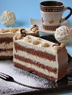 Recepti iz moje bilježnice: Crnac u bijelom Torte Recepti, Kolaci I Torte, Baking Recipes, Cookie Recipes, Dessert Recipes, Jednostavne Torte, Croation Recipes, Torta Recipe, Patisserie Fine
