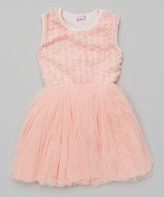Another great find on #zulily! Pink Ribbon Chiffon Dress - Toddler & Girls by Di Vani #zulilyfinds