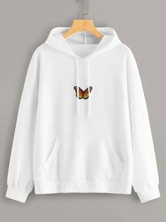 To find out about the Butterfly Patched Drawstring Hooded Sweatshirt at SHEIN, part of our latest Sweatshirts ready to shop online today! Cute Comfy Outfits, Lazy Outfits, Teen Fashion Outfits, Outfits For Teens, Outfits With Hoodies, Fashion Dresses, Tomboy Outfits, Fashion Hoodies, Women's Fashion