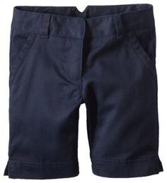 Dockers Little Girls'  Uniform Twill Bermuda Short, Navy