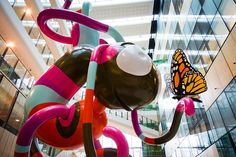 """Things We Covet: """"Creature,"""" a 45-foot tall sculpture by artist Alexander Knox, on display in the the Royal Children's Hospital in Melbourne, Australia."""