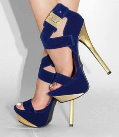 #Sexy Buckle Velvet #Heels ... #shoes #heels #fashion