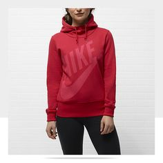 Nike Lightweight Pullover Women's Hoody in Hyper Red/Neo Turq