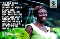 Fair trade brings benefits and empowers women.