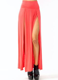 19 Best Double Splits Images Fashion Skirts Split Skirt