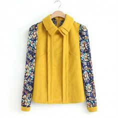 Layered Turn-Down Collar Single-Breasted Floral Print Long Sleeves Women's Blouse, AS THE PICTURE, M in Blouses | DressLily.com