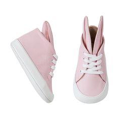 Pink bunny sneakers for baby, Minna Parikka