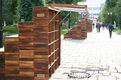These outdoor libraries in Russia are pretty cool