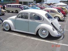 White on White VW Beetle. Clean isn't the word!!!