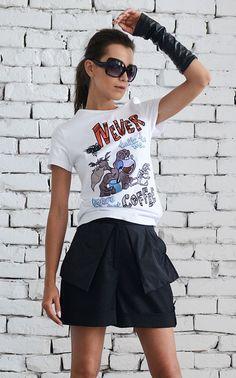 NEW Black Loose Shorts/Linen Short Casual Pants/Extravagant Drop Crotch…