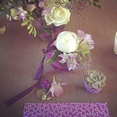 Maquette mariage parme pour Eulalie#parme#violet#pivoine#succulente#mariage fleuriste toulouse#fleuristetoulouse