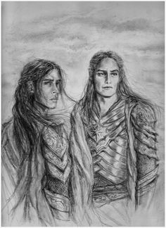 Brothers by DariaN5 on DeviantArt (Maedhros and Maglor)