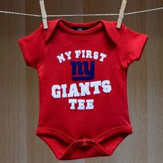 NY Giants Baby My First Tee Creeper - Red