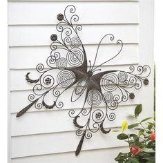 Large Metal Butterfly Wall Art in Wall Sculpture Art