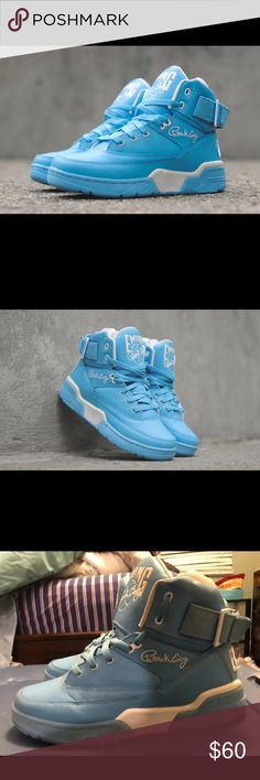 Mens Baby Blue Ewings Size 10.5 . Still in very good condition - will take offers . Shoes Sneakers