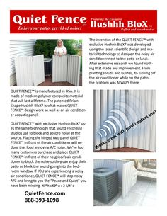 Air Conditioner Noise Screen Lean How Quiet Fence Can Help You With Your Loud Pool Equipment Or A
