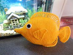 Amigurumi Crochet Pattern - Yellow Tang  Pattern No.023