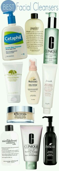 facial cleansers ... esp Aveeno <3