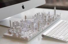 3D Printed Model of Manhattan
