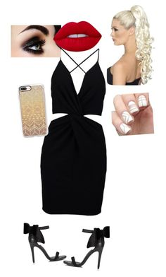 """Date night"" by aubrie43302 ❤ liked on Polyvore featuring Boohoo, Miss Selfridge, Lime Crime and Casetify"