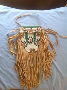"""Native American Beaded Indian Pouch , RARE"""" !!! 
