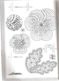 Lace Express 1997-02 Crochet Diagram, Crochet Motif, Crochet Doilies, Bruges Lace, Romanian Lace, Bobbin Lacemaking, Bobbin Lace Patterns, Lace Heart, Lace Jewelry