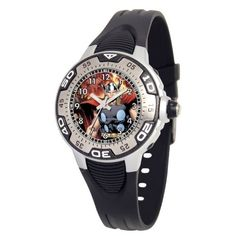 """Marvel Comics Kids' MA0108-D382-Black Marvel Thor Spectrum Watch Marvel Comics. $24.80. Water-resistant to 99 feet (30 M). Silvertone luminous hands. Kid's marvel """"spectrum"""" watch with marvel character on the dial. Black rubber strap. Uni-directional rotating bezel. Save 29% Off!"""