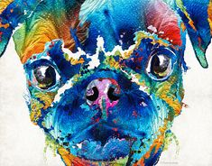 http://fineartamerica.com/featured/colorful-pug-art-smug-pug-by-sharon-cummings-sharon-cummings.html