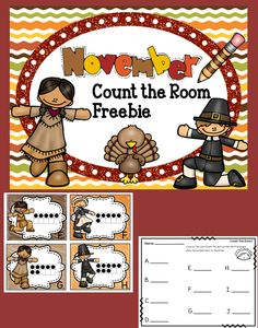 Freebie Thanksgiving Count The Room Activity!  This Thanksgiving themed Count the Room activity is a fun way to engage your students and gets them up and moving!