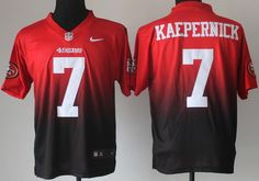 Nike San Francisco 49ers 7 Colin Kaepernick Red Black Drift . 491e16607