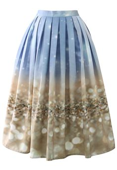 Chicwish Bling Bling Pleated Midi Skirt - Skirt - Bottoms - Retro, Indie and Unique Fashion