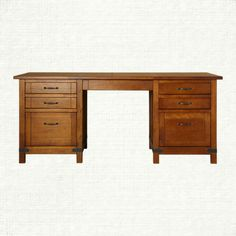 View the Bentley Brown Executive Desk from Arhaus. The Bentley Collection is inspired by the campaign style of the 18th and 19th centuries; designs