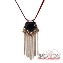 Анти цвет черный камень цепи кисточкой ожерелье N7-9563-4120