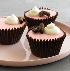 Chocolate raspberry mousse cups; from Hello Jell-o! by Victoria Belanger