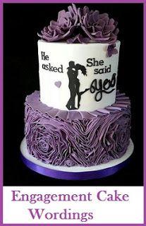 Classic Cake Wordings! : Engagement Cake Wordings Ideas