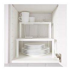 IKEA - VARIERA, Estante adicional, Se puede colocar en una balda para tener más espacio para guardar vasos, cuencos o botes de especias.Permite una visión general del contenido del armario, con todo accesible.Incluye tornillos para que puedas unir dos o más estantes adicionales VARIERA.