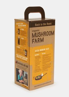 Grow gourmet, organic oyster mushrooms right out of the box in just 10 days with this amazing DIY kit. Simply open the box, mist with water, and harvest delicious mushrooms 10 days later. After your first harvest, flip the box over and grow a second crop on the back side. When you're finished, use the plant-based organic soil inside the bag to plant the included tomato seeds. The box will last unopened for several months.This educational and functional kit makes a great gift item for kids…