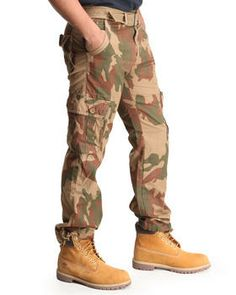 Woodland Camo Cargo Pants by Buyers Picks