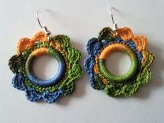 Crochet earrings multicolor