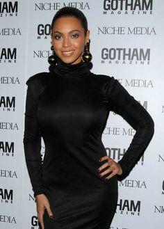 Beyonce. Gotham, Black Turtleneck, Beyonce, High Neck Dress, Turtle Neck, Celebrities, How To Wear, Dresses, Women
