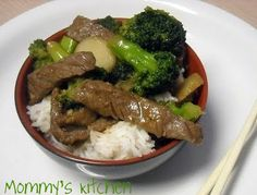 "Mommy's Kitchen: Broccoli Beef Stir Fry ""Chinese Take Out at Home"""